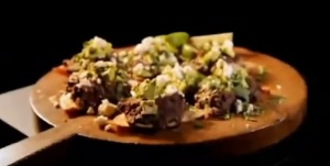 black beans and avocado feta
