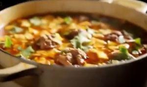 fiery meatball soup