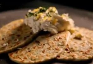 flatbread with lemon thyme and ricotta
