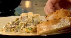 mushroom and leek lasagne