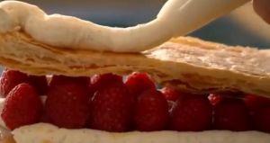 レシピ#100  ラズベリーのミルフィーユ Raspberry mille-feuille