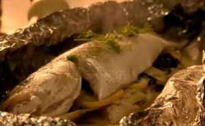 レシピ#93 スズキのフェンネルレモンケーパー詰め Sea bass with fennel, lemon & capers