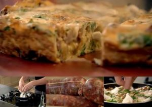 fennel sausage frittata panorama