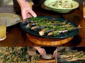 イワシのグリル グレモラータ添えと、オルゾパスタのサラダ~「究極の料理~朝食からディナーまで~イタリア料理」から