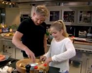 tilly and gordon chopping garlic