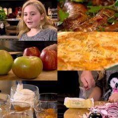 ソーセージホットポットと、ポテトとビーツのグラタンと、リンゴのコンポート~「究極の料理~朝食からディナーまで~元気が出る料理」から