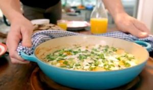 smoked haddock and spinach baked eggs