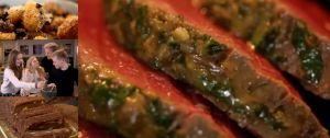 牛ヒレ肉のサルサヴェルデ添えと、トリュフがけベークドポテトと、チョコレートのセミフレッド ~「究極の料理~朝食からディナーまで~特別な日の家庭料理」から
