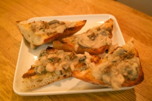cannellini bean crostini with anchovy and olives