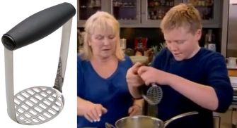 oxo smooth potato masher pano