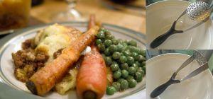 シェパードパイのグリーンピースとニンジン添え(我が家で作ったときの写真で~す)