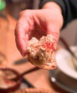 rillette on bread