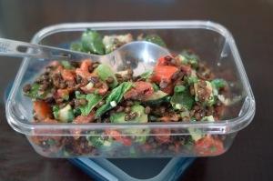 ゴードン氏の『特別なサラダとフルーツデザート』のひとつ、 Roasted red peppers and herb salad (クリックで拡大表示できます)