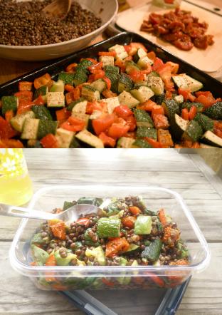 レンズ豆のハーブサラダpano