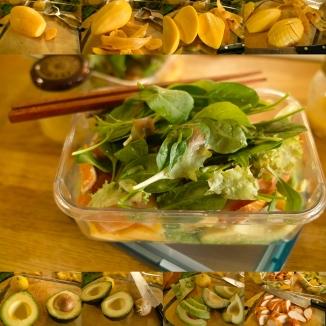 マンゴーとアボカドとスモークチキンのサラダ(Gordon Ramsay's Healthy Appetiteのレシピ)は、前もってドレッシングを作り置きしとくと、組み立ては超簡単なのがナイス!