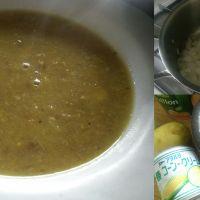 肌寒い日には、マドラスカレー風味の手作りコーンスープ!